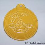 2011 Embossed 75th Annivesary - Marigold Fiesta® Ornament
