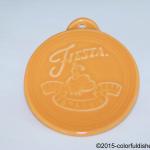 2011 Embossed 75th Annivesary - Tangerine Fiesta® Ornament
