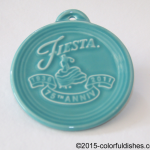 2011 Embossed 75th Annivesary - Turquoise Fiesta® Ornament