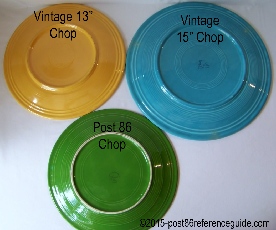 Fiesta® Chop Plate Comparison & Comparison - Plates - Platters - Trays - Post 86 Reference Guide