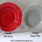 Fiesta® Deep Plate Rim Soup Comparison