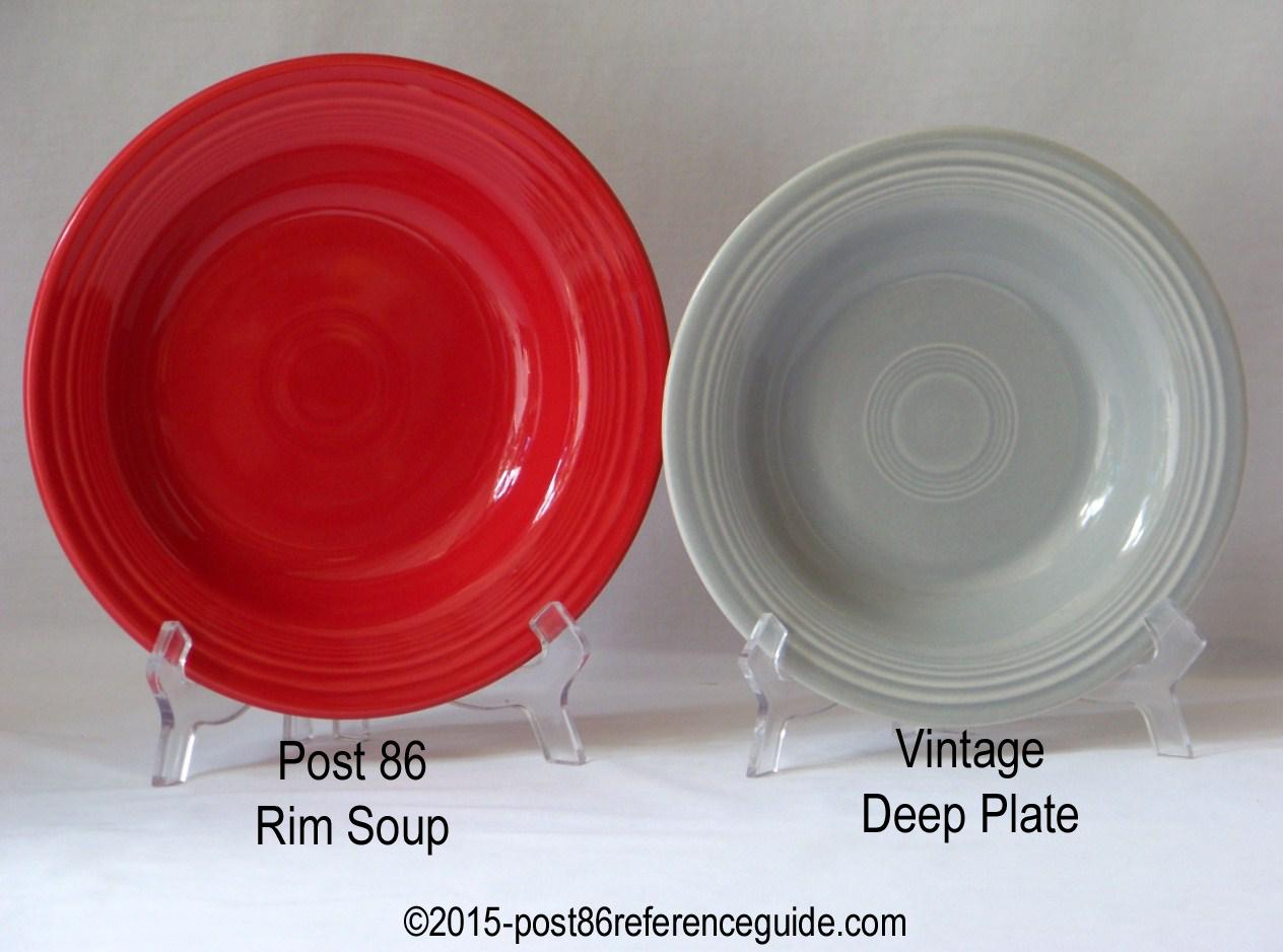 ... Fiesta® Deep Plate Rim Soup Comparison & Comparison - Bowls - Post 86 Reference Guide