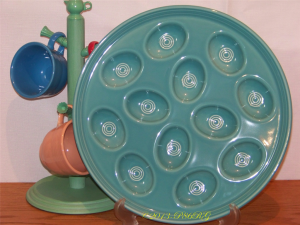 Fiesta® Egg Tray Large in Turquoise