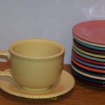 Fiesta® Jumbo Cup & Saucer in Yellow