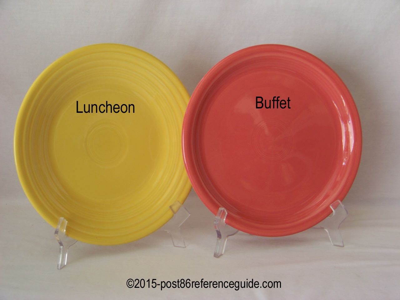 Fiesta® Luncheon Buffet Plate Comparison & Comparison - Plates - Platters - Trays - Post 86 Reference Guide