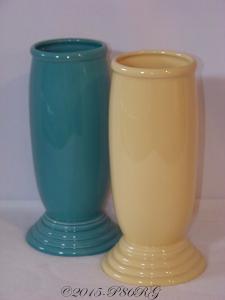 Fiesta® Millennium III Vases in Turquoise & Yellow