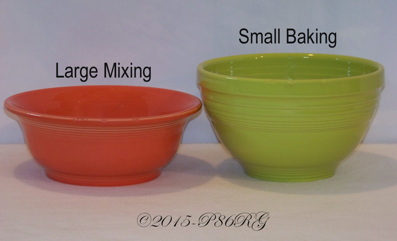 Fiesta® Mixing Bowl Baking Bowl Comparison - Post 86 Reference Guide