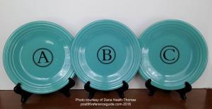 Fiesta® Monogram Plates