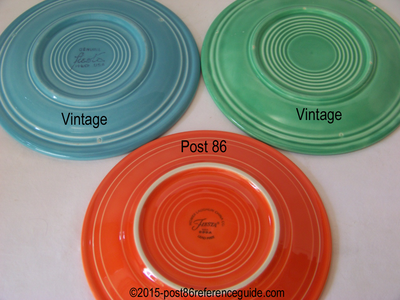 Comparison - Plates - Platters - Trays - Post 86 Reference ...