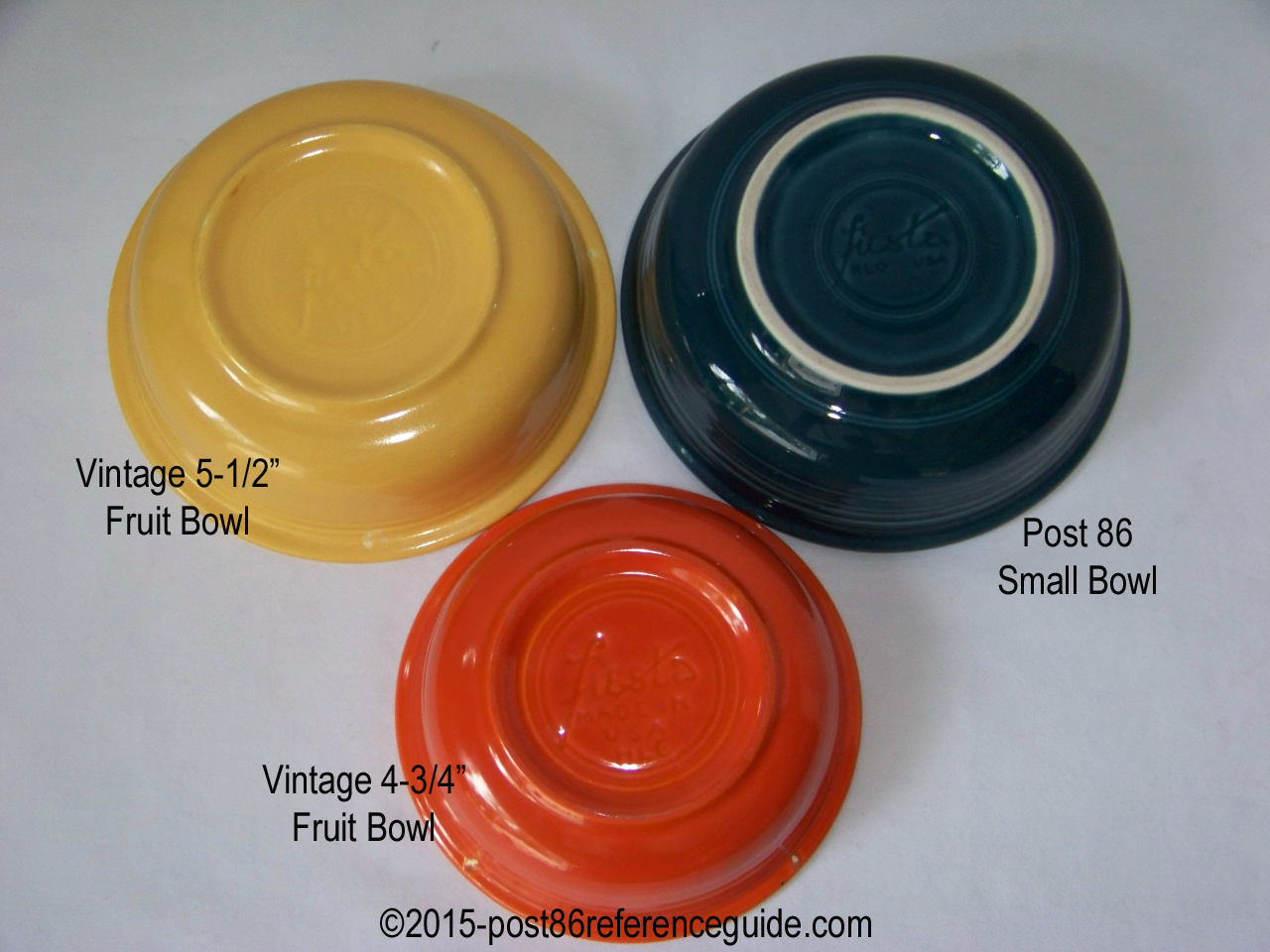 Comparison Bowls Post 86 Reference Guide