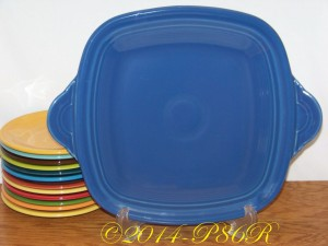 Fiesta® Square Handled Serving Tray in Lapis