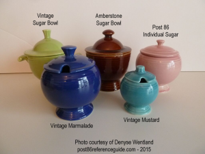 Fiesta® Sugar Bowl - Marmalade - Mustard Comparison