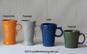 Fiesta® Cappuccino, Latte Pedestal Tapered Mugs