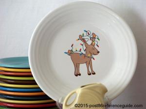 Fiesta White Twinkling Reindeer Prototype Luncheon rg