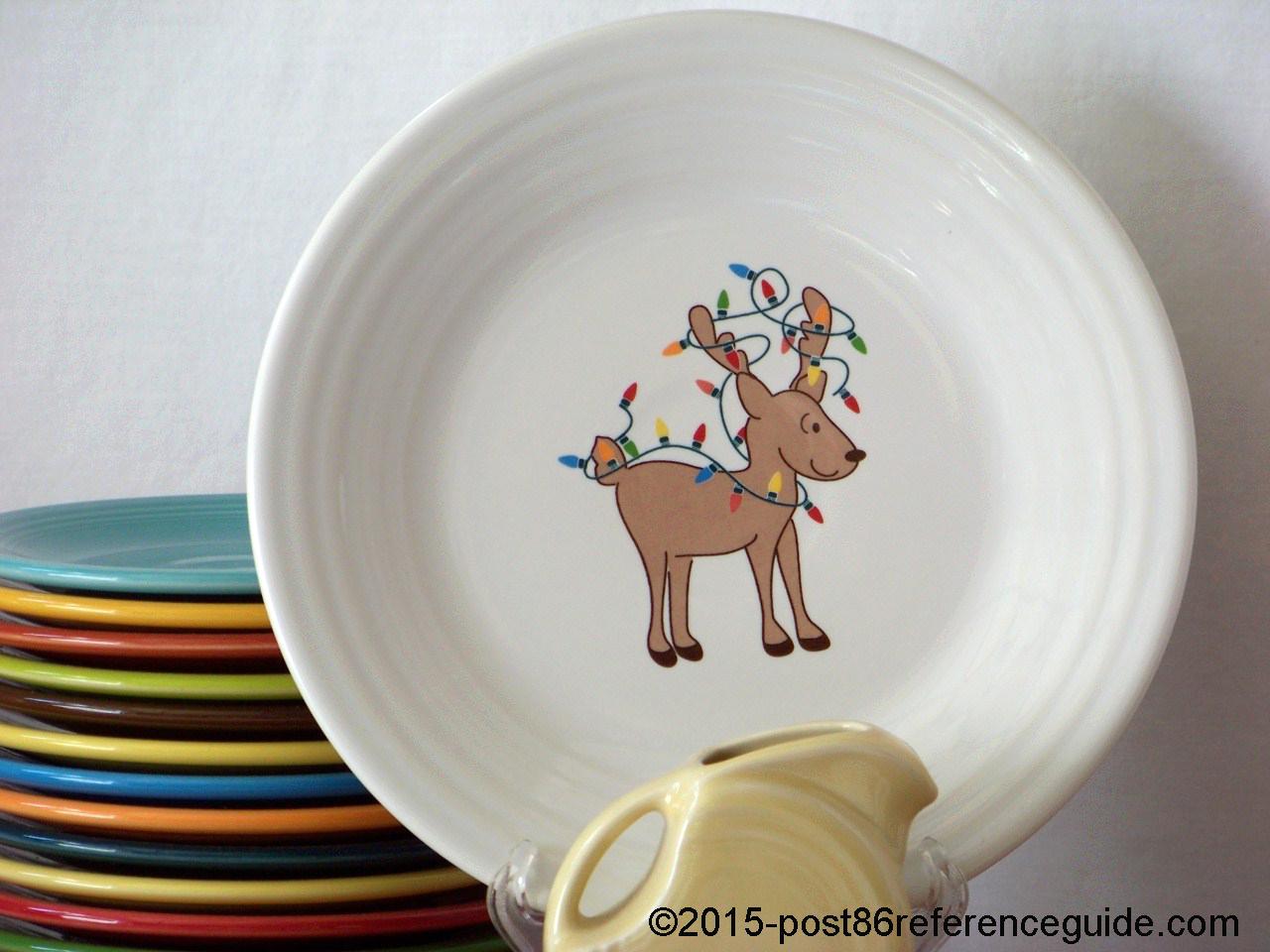 Fiesta White Twinkling Reindeer Prototype Luncheon rg & Reindeer - Post 86 Reference Guide