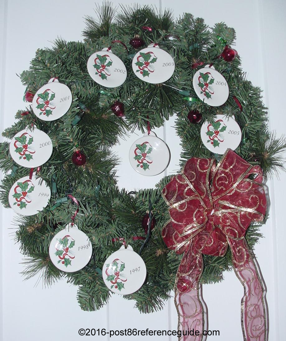 Fiesta® Holly Ribbon Wreath & Evolution of the Fiesta® Ornament - Post 86 Reference Guide