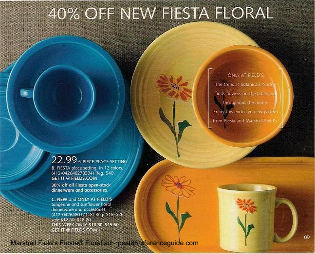 Marshall Fields Floral Ad & Fiesta® Floral - Marshall Fields Exclusive