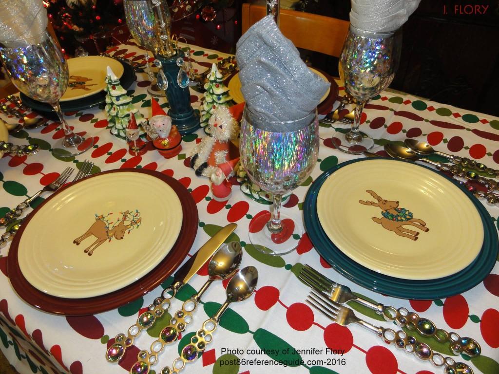 Reindeer Plates Tablescape rg j