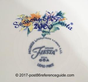 Seasons of Fiesta® backstamp