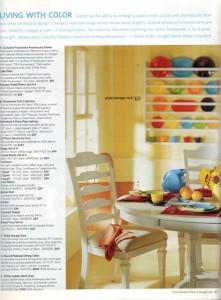 Spiegel Spring Catalog 2006 page 47 - Fiesta® dinnerware