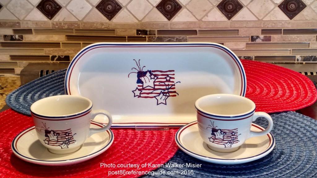 Fiesta® Stars & Stripes Bread Tray Cup Saucer