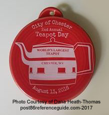 City of Chester Teapot Day 2017 Fiesta® Ornament