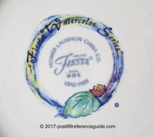 Fiesta® Watercolor backstamp